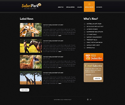 Template 40768 ( News & events Page ) ADOBE Photoshop Screenshot