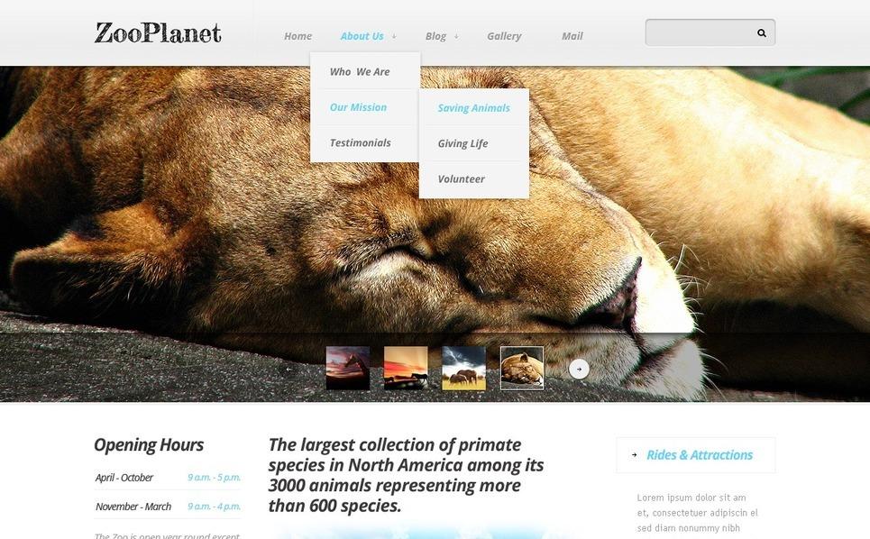 Hayvanat Bahçesi  Drupal Şablonu New Screenshots BIG