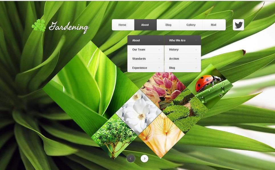 Drupal Vorlage für Gartendesign  New Screenshots BIG