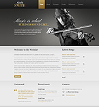 Personal Page Website  Template 40798