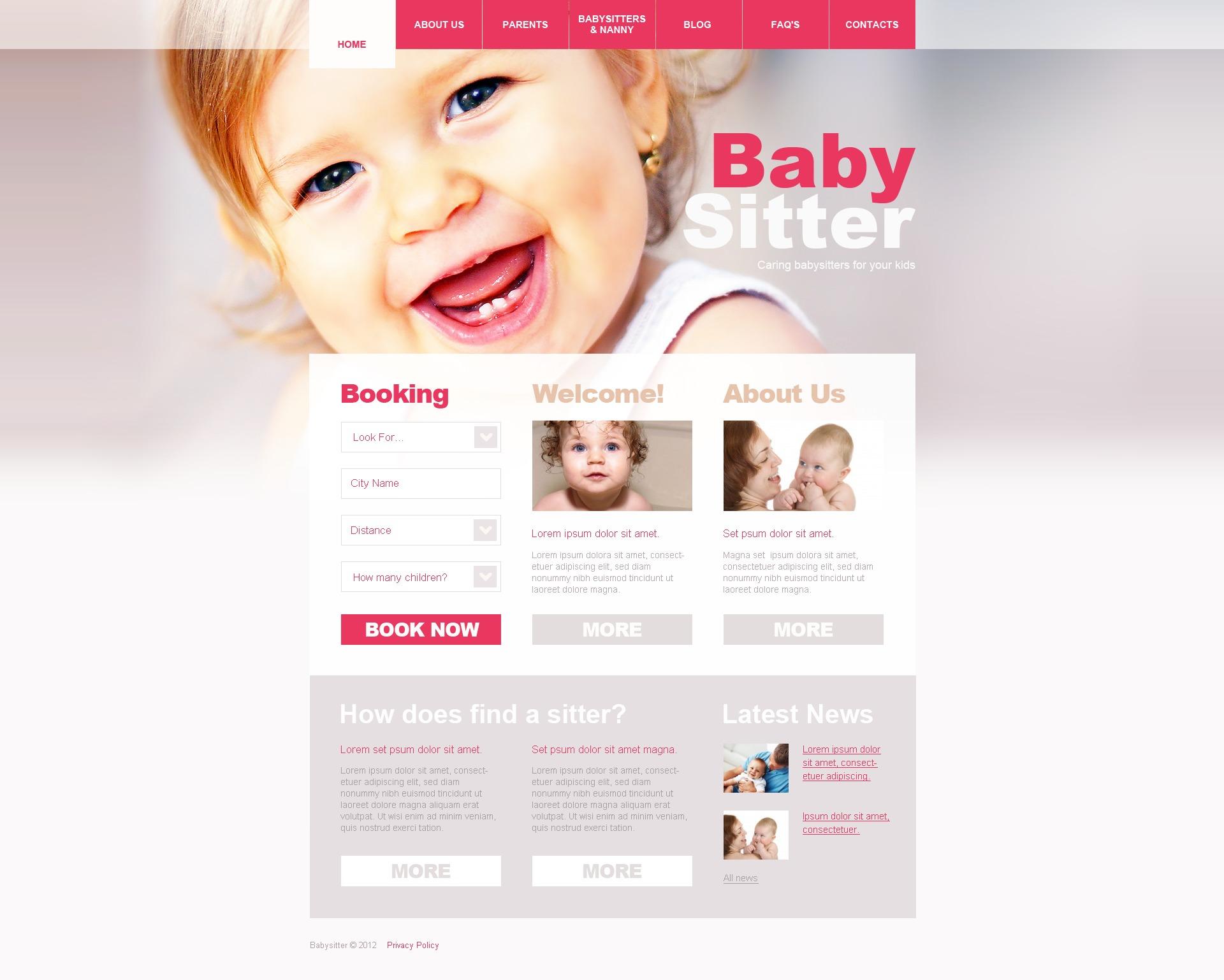 Babysitter WordPress Theme - screenshot