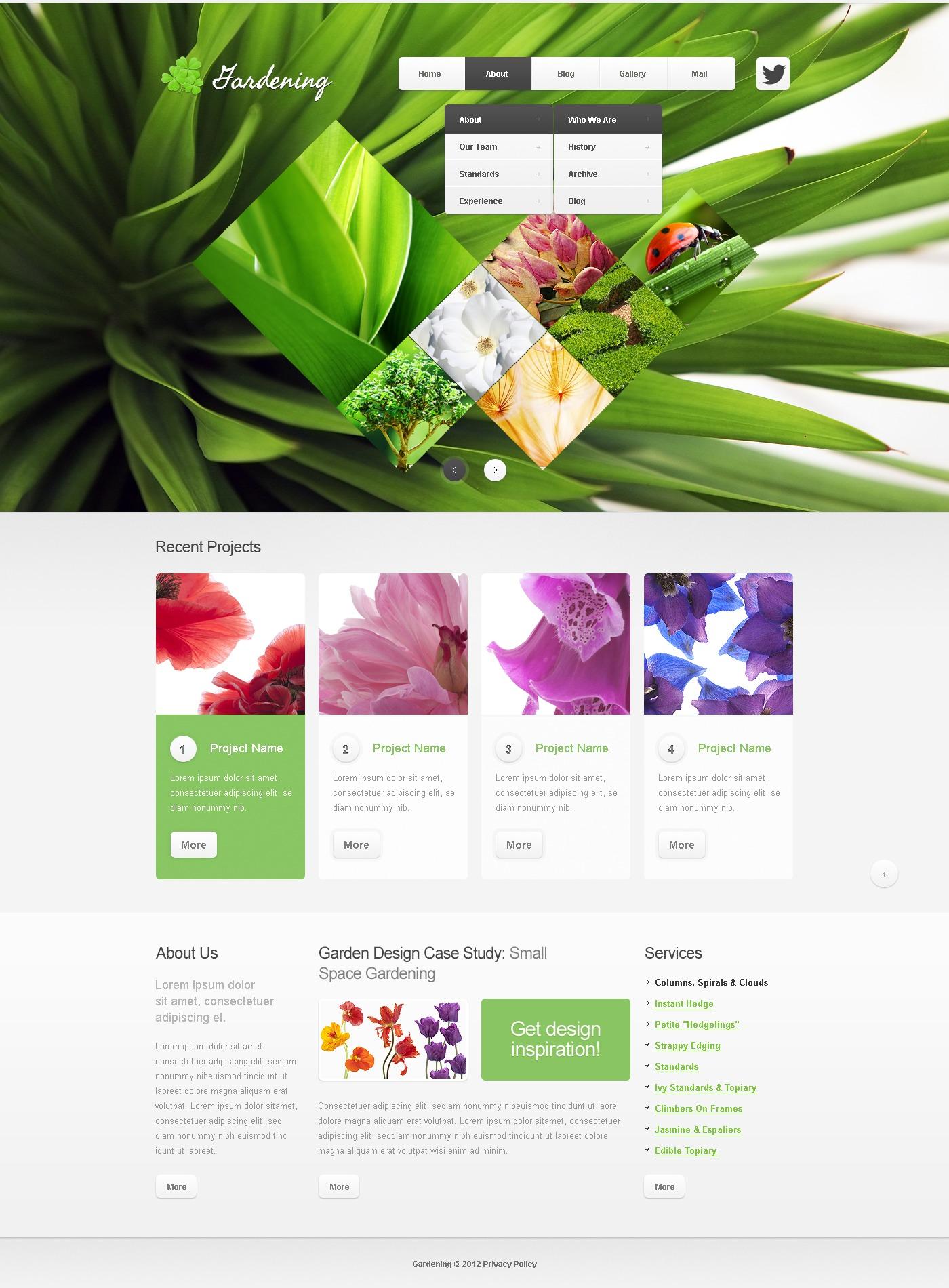 Drupal Vorlage für Gartendesign #40774
