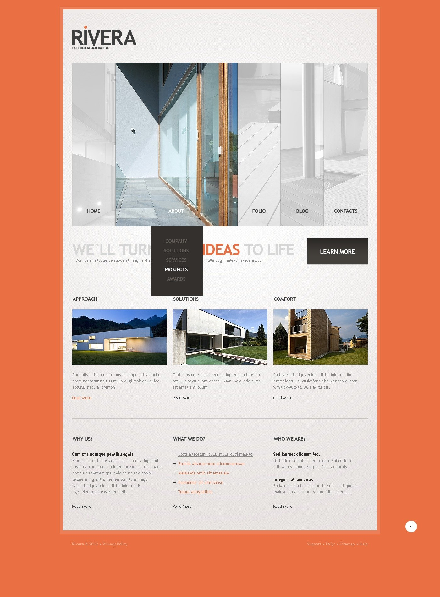 exterior design website template 40797