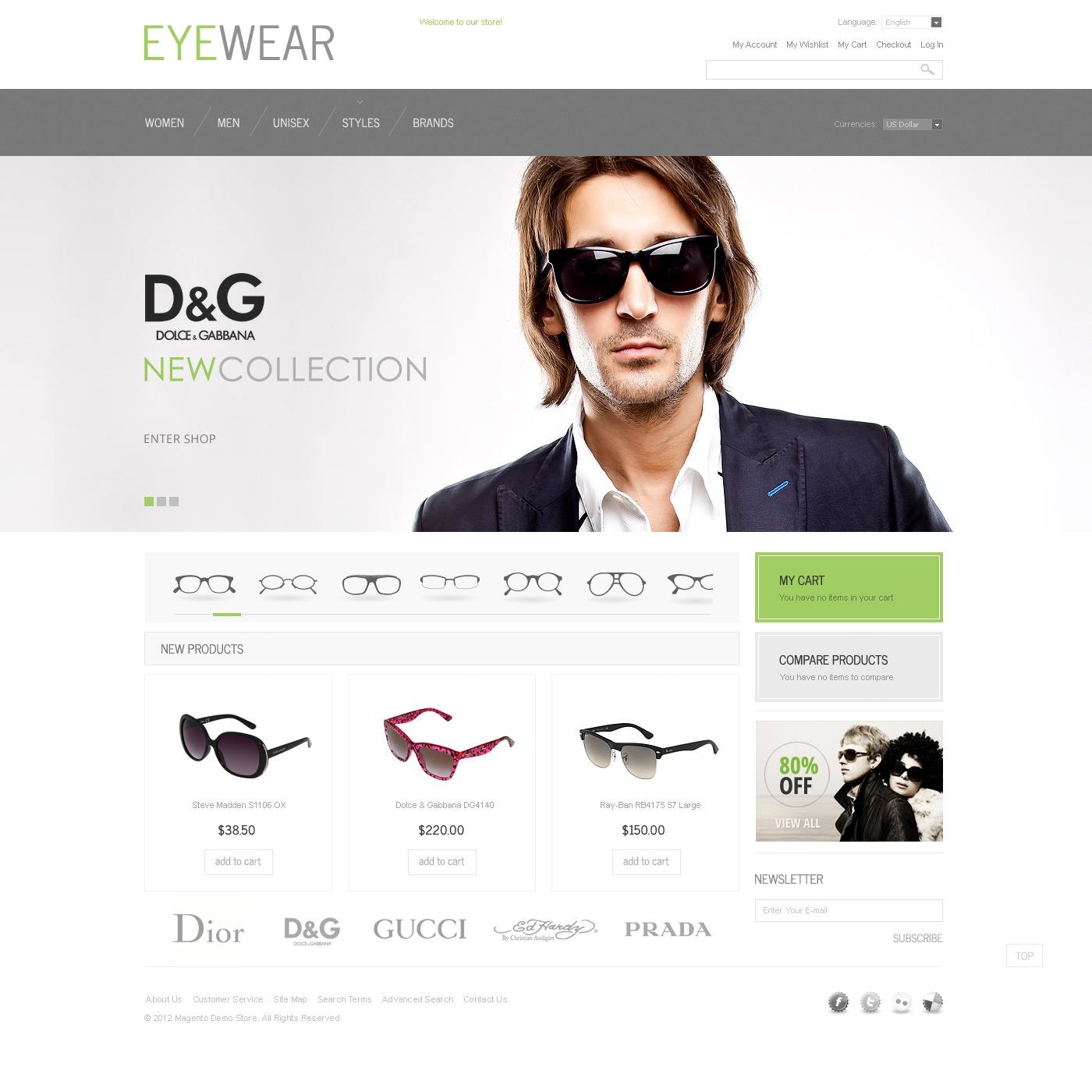 6379fcf06a1 Eyewear Magento Theme  40720