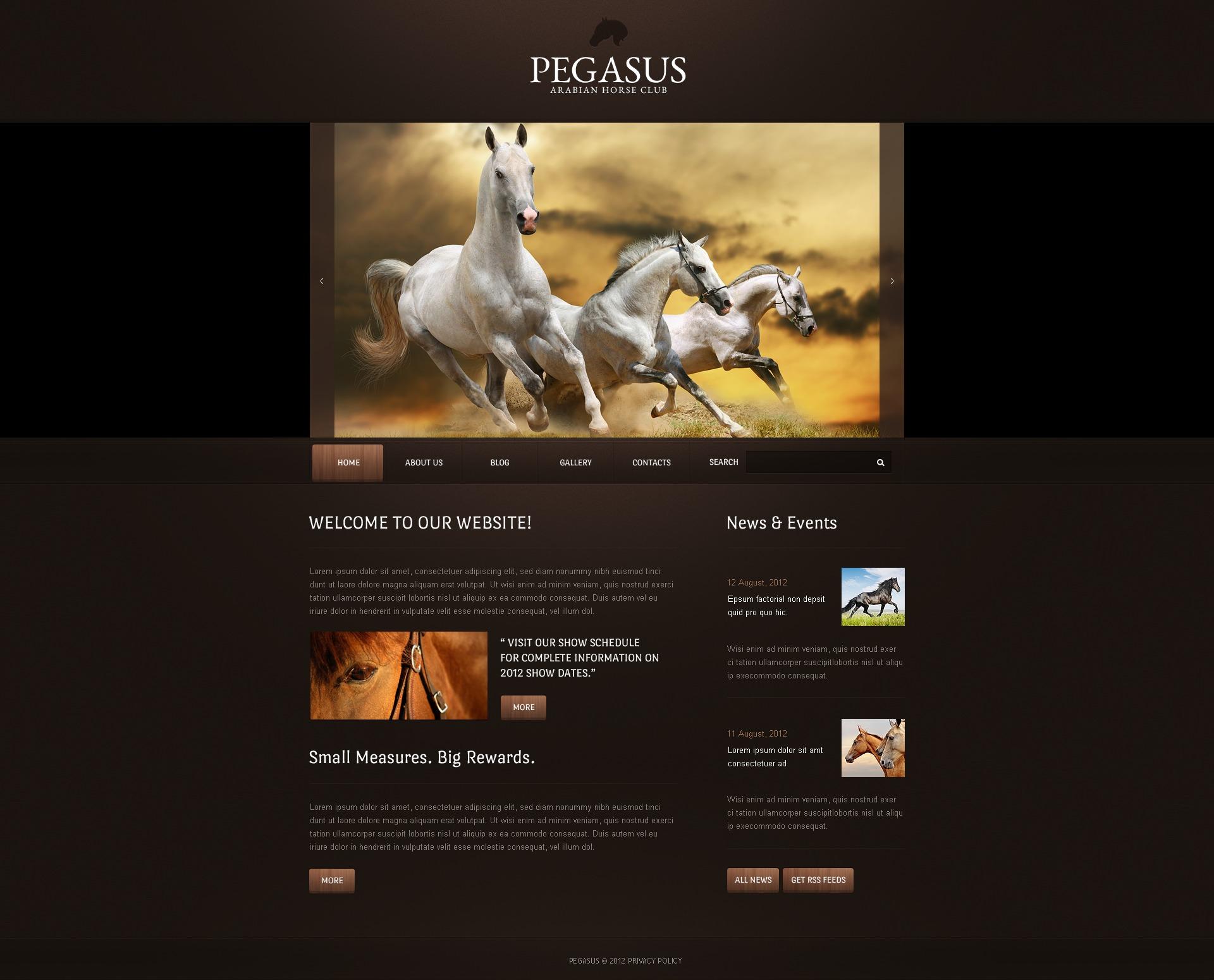 Horse Drupal Template - screenshot