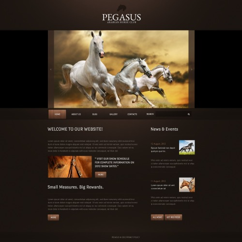 Pegasus - Drupal Horse Club Template