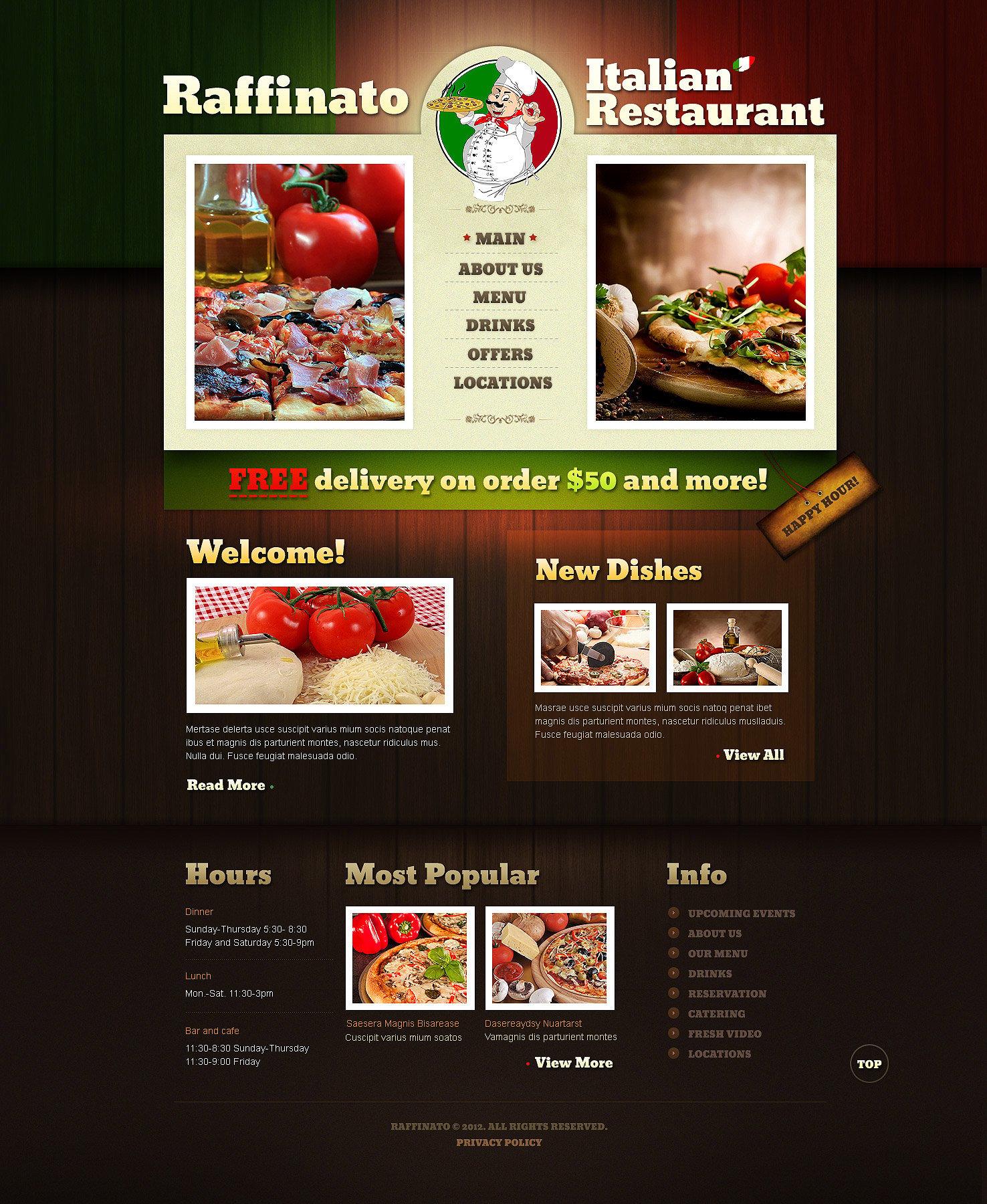 Italian Restaurant Website Template 40705