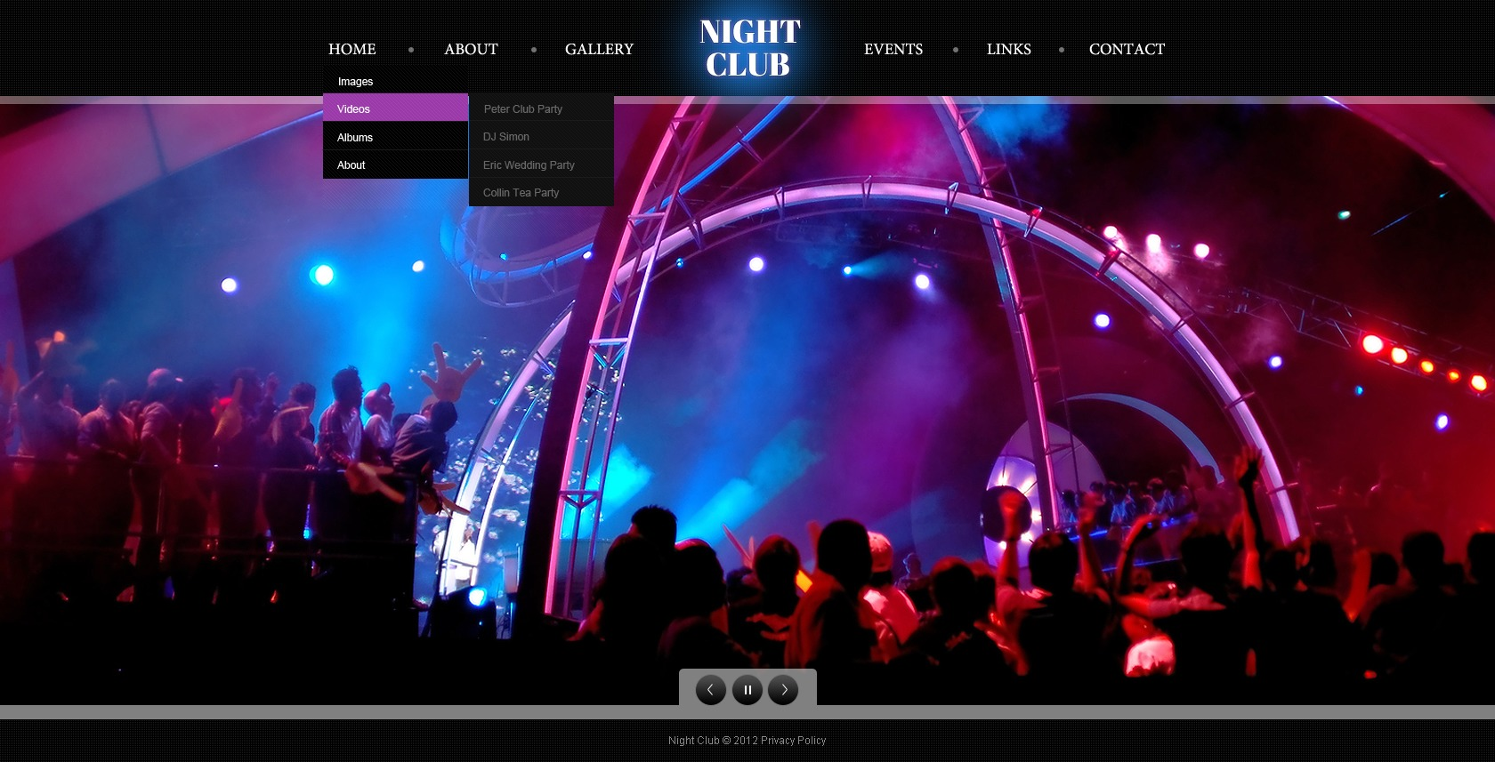 Night Club Website Template 40767