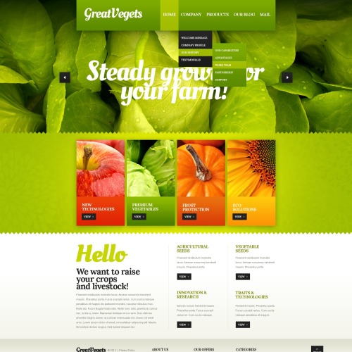 Great Vegets - Drupal Template