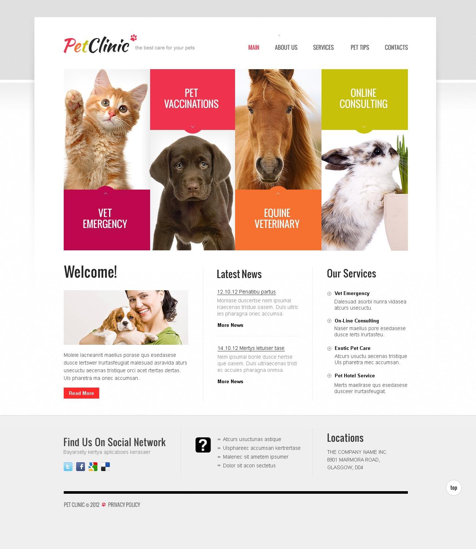 Website Vorlage #40704 für Tierarzt