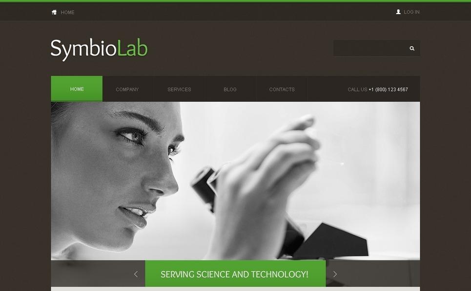 Tudományos laborok Joomla sablon New Screenshots BIG