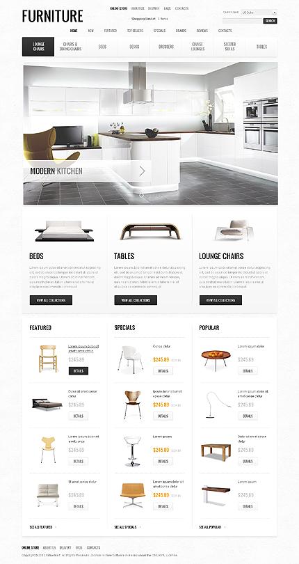 osCommerce Template 40812 Main Page Screenshot