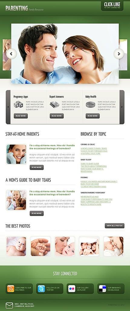 ADOBE Photoshop Template 40818 Home Page Screenshot
