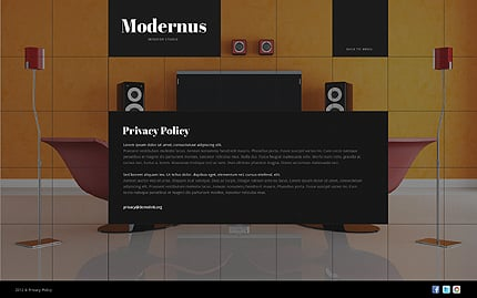 Template 40827 ( Privacy Policy Page ) ADOBE Photoshop Screenshot