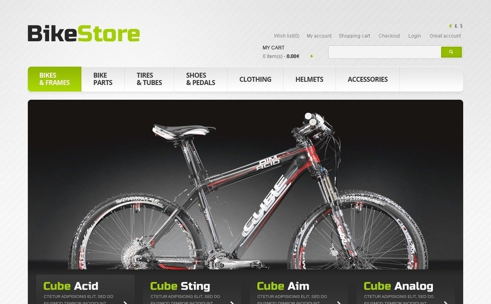 OpenCart Template over Fietsen  New Screenshots BIG