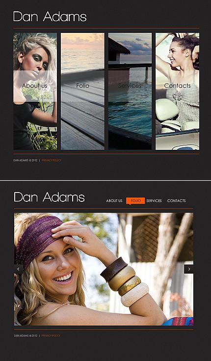 ADOBE Photoshop Template 40850 Home Page Screenshot