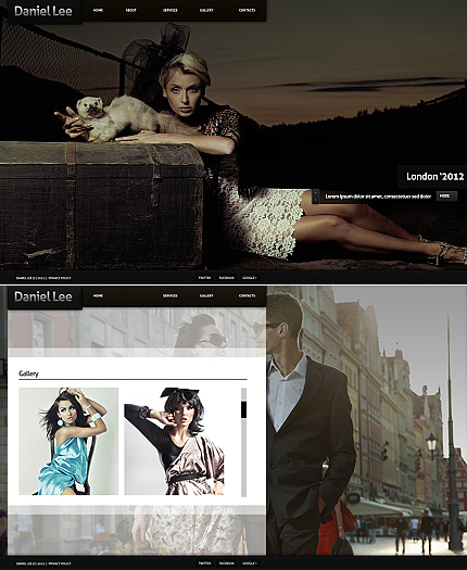 ADOBE Photoshop Template 40853 Home Page Screenshot