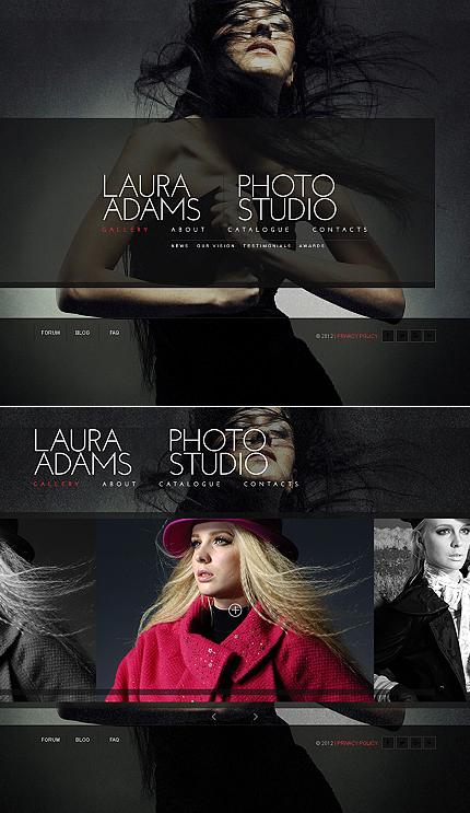 ADOBE Photoshop Template 40854 Home Page Screenshot