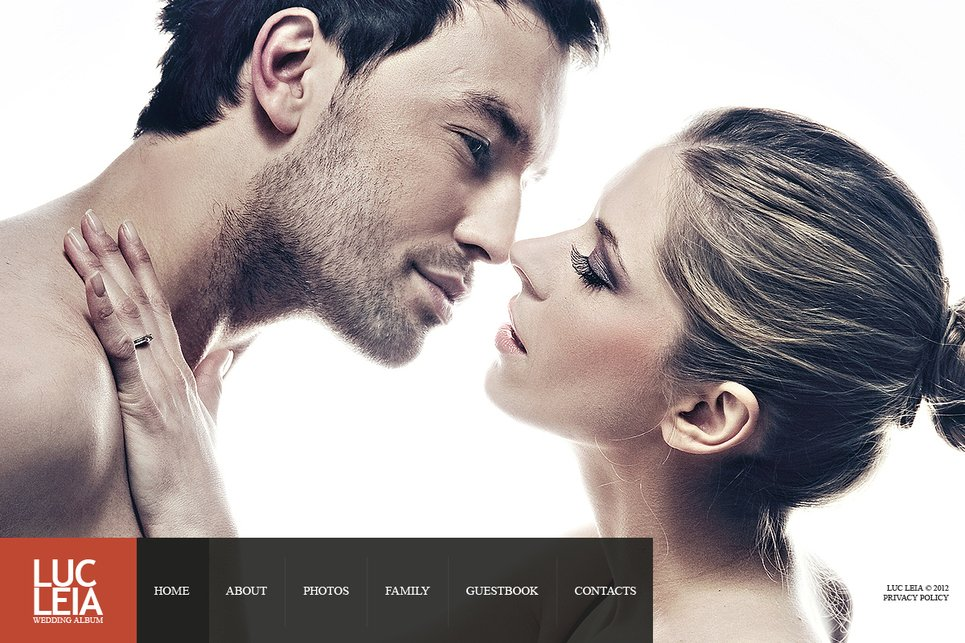 Wedding Web Template with Large Background Gallery - image