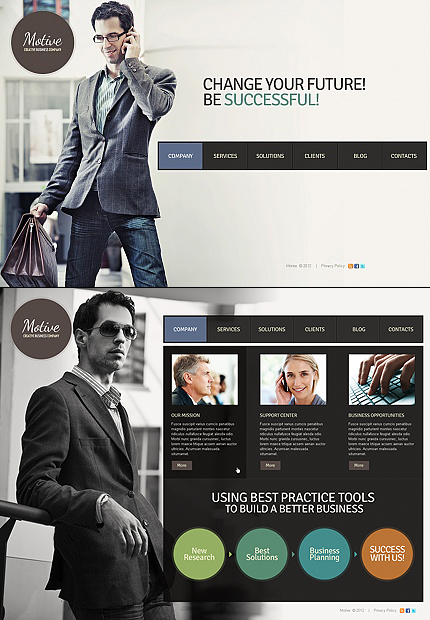 ADOBE Photoshop Template 40877 Home Page Screenshot
