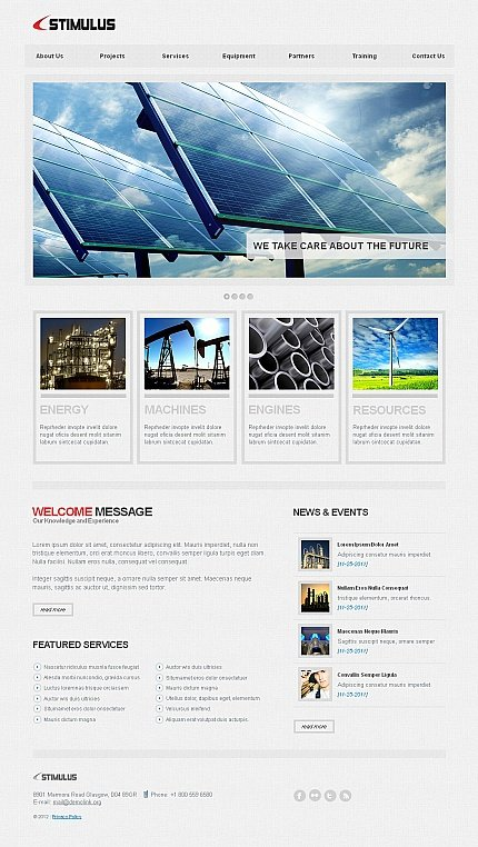 ADOBE Photoshop Template 40878 Home Page Screenshot