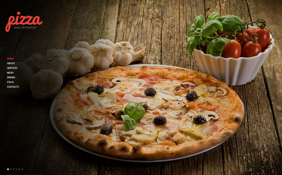 Pizza Moto CMS HTML sablon New Screenshots BIG