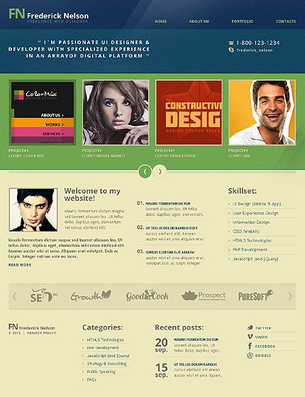 Drupal Template 40883 Main Page Screenshot