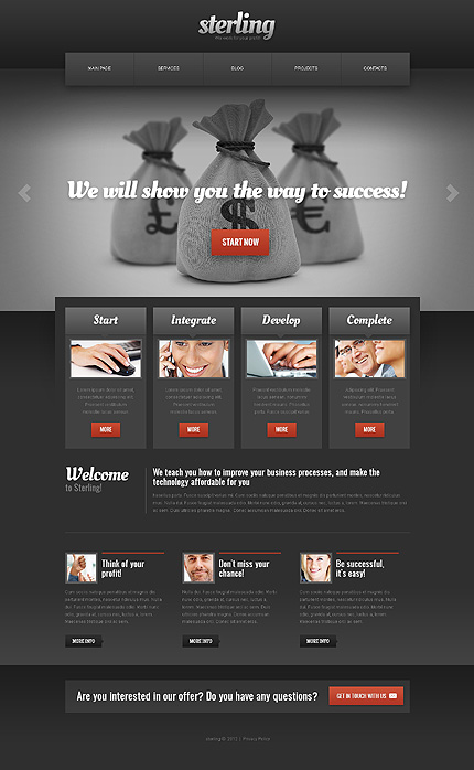 Joomla Theme/Template 40885 Main Page Screenshot