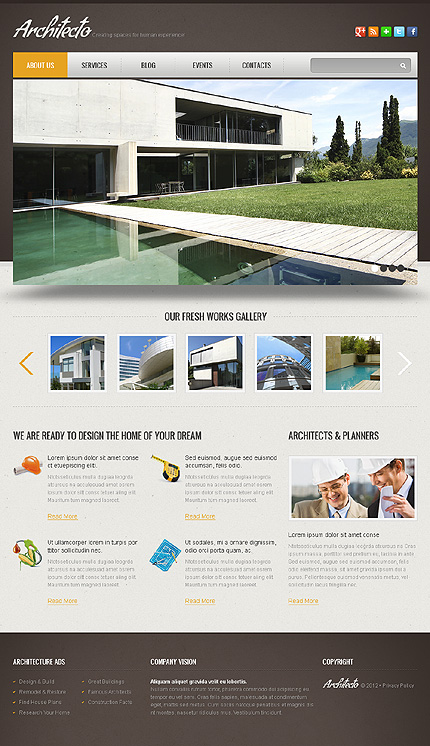 Joomla Theme/Template 40887 Main Page Screenshot