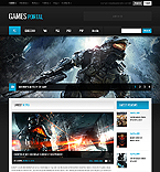 Games Website  Template 40891
