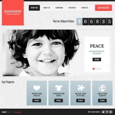 Charity Website Template #40895