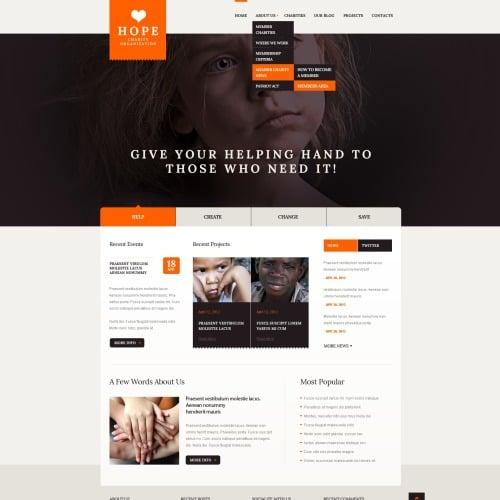 Hope - HTML5 Drupal Charity Template