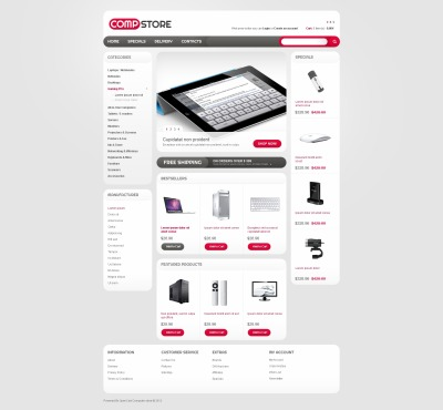 Comp Store OpenCart Template