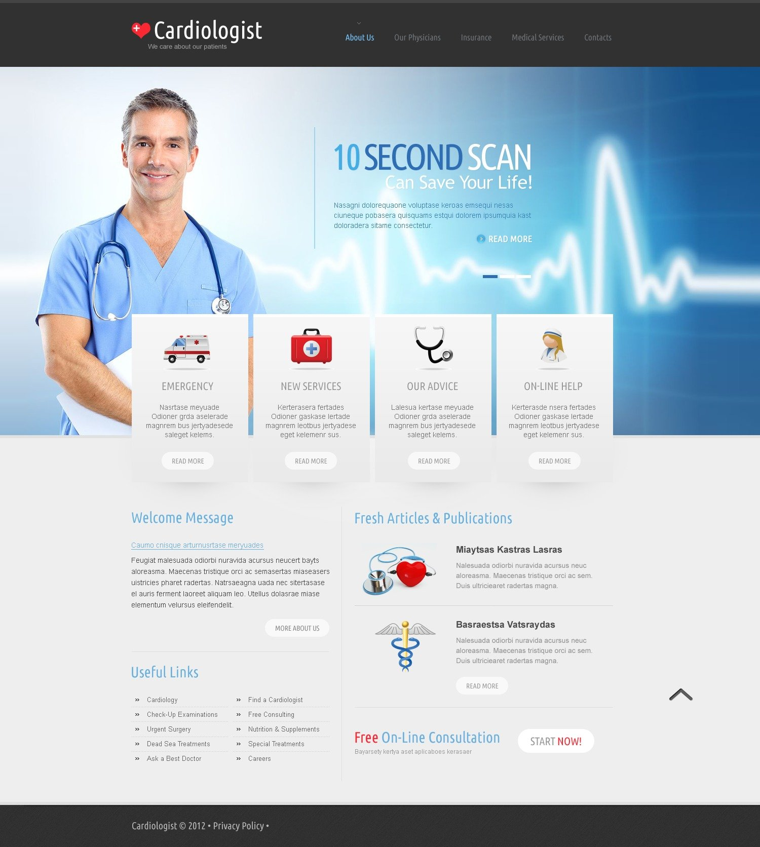 Medical Website Templates Images - Template Design Ideas