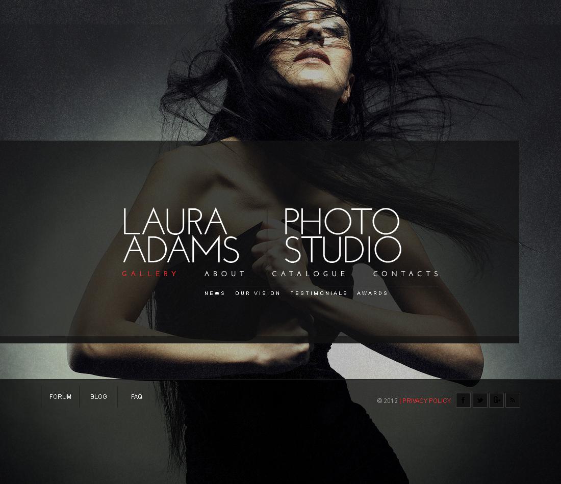 Шаблон фото галереи №40854 на тему портфолио фотографа - скриншот