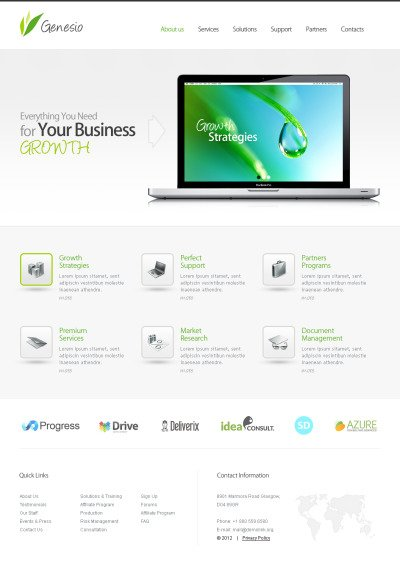 Business Tema Moto CMS HTML