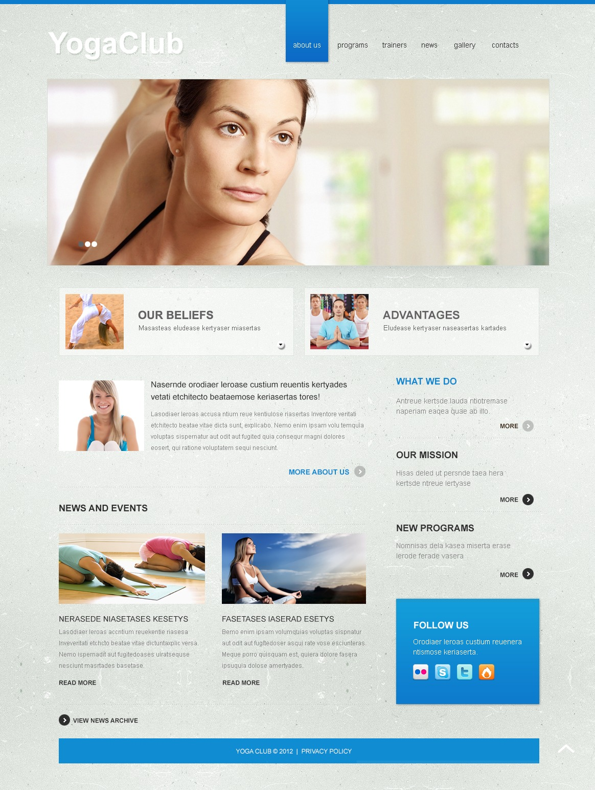 Yoga Joomla Template #40804
