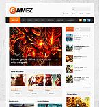 Games Website  Template 40905