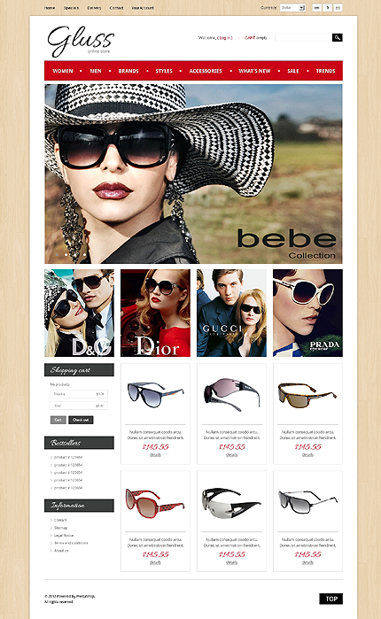 ADOBE Photoshop Template 40917 Home Page Screenshot