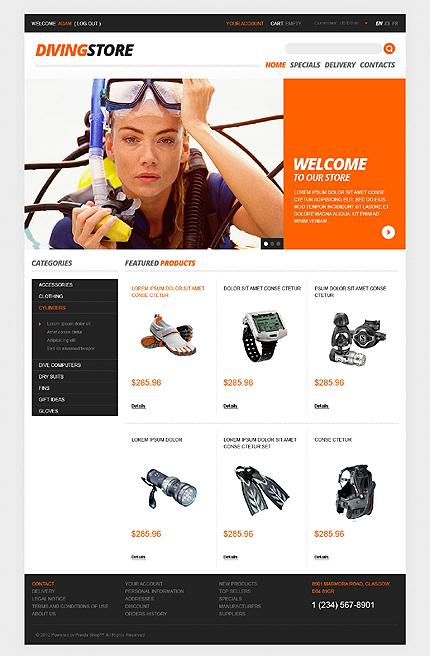 ADOBE Photoshop Template 40919 Home Page Screenshot