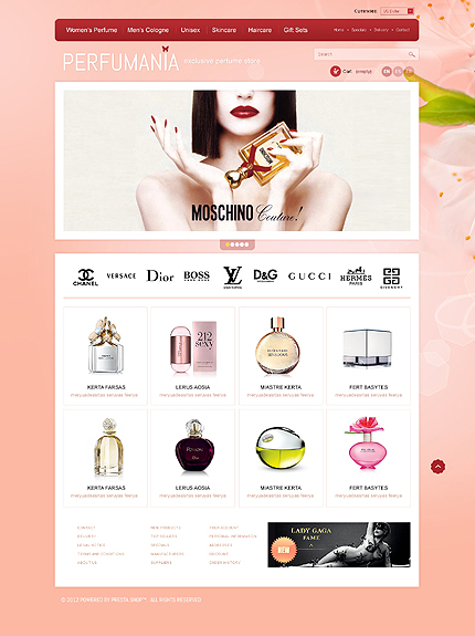 ADOBE Photoshop Template 40920 Home Page Screenshot