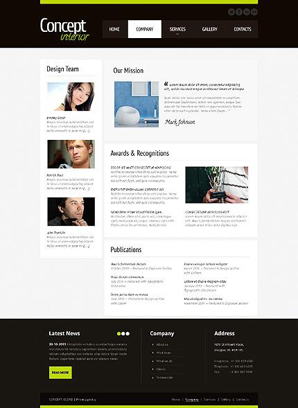 Template 40925 ( Company Page ) ADOBE Photoshop Screenshot