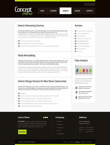 Template 40925 ( Services Page ) ADOBE Photoshop Screenshot
