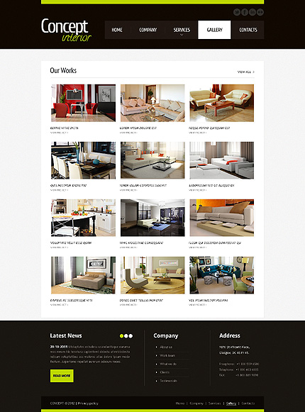Template 40925 ( Gallery Page ) ADOBE Photoshop Screenshot