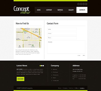 Template 40925 ( Contacts Page ) ADOBE Photoshop Screenshot