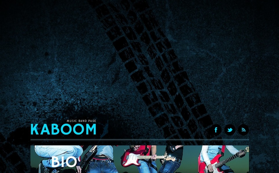 Tema Siti Web  #40926 per Un Sito di Music Band New Screenshots BIG