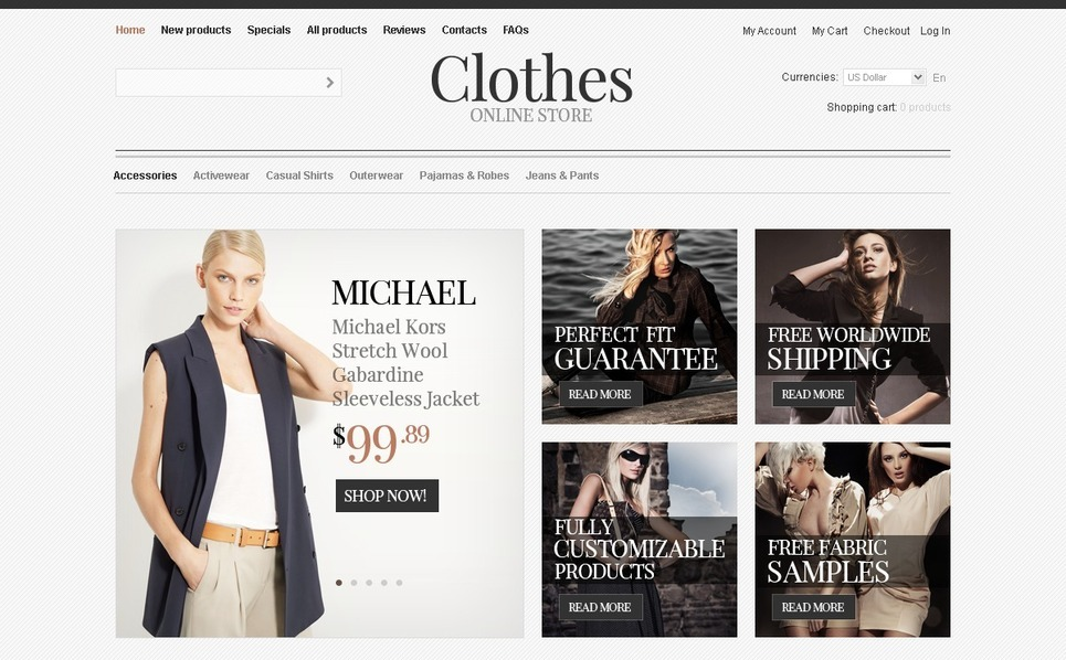 Template ZenCart  para Sites de Roupa №40939 New Screenshots BIG