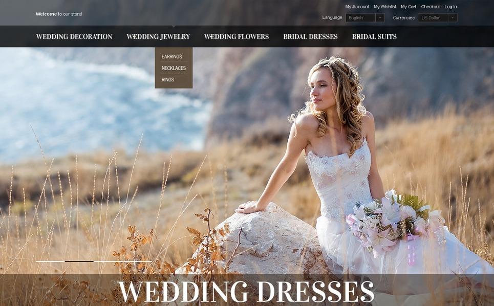 Menyasszonyi ruhák  OpenCart sablon New Screenshots BIG