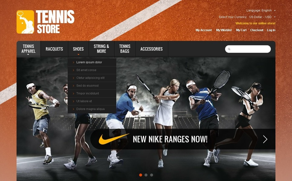 Szablon OpenCart #40943 na temat: tenis New Screenshots BIG