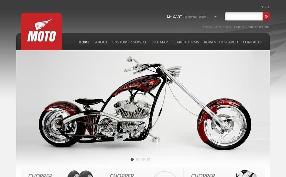 Kerékpárboltok OpenCart sablon New Screenshots BIG
